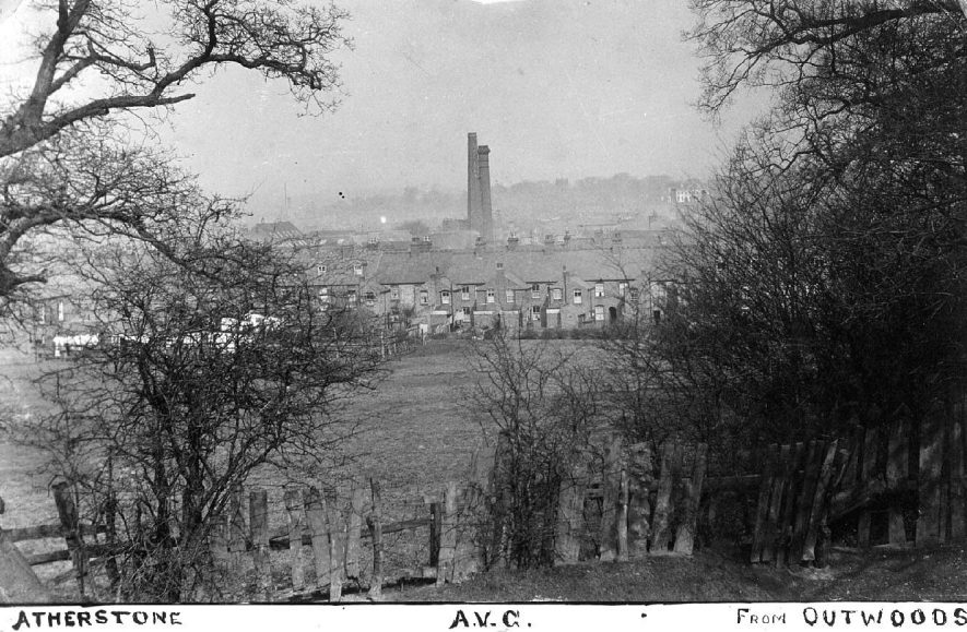 View of Atherstone from The Outwoods.  1900s |  IMAGE LOCATION: (Warwickshire County Record Office)