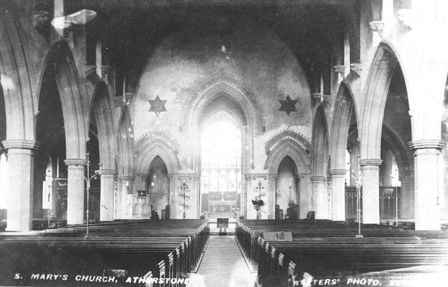 Interior of St Mary's Church, Atherstone.  1900s |  IMAGE LOCATION: (Warwickshire County Record Office)