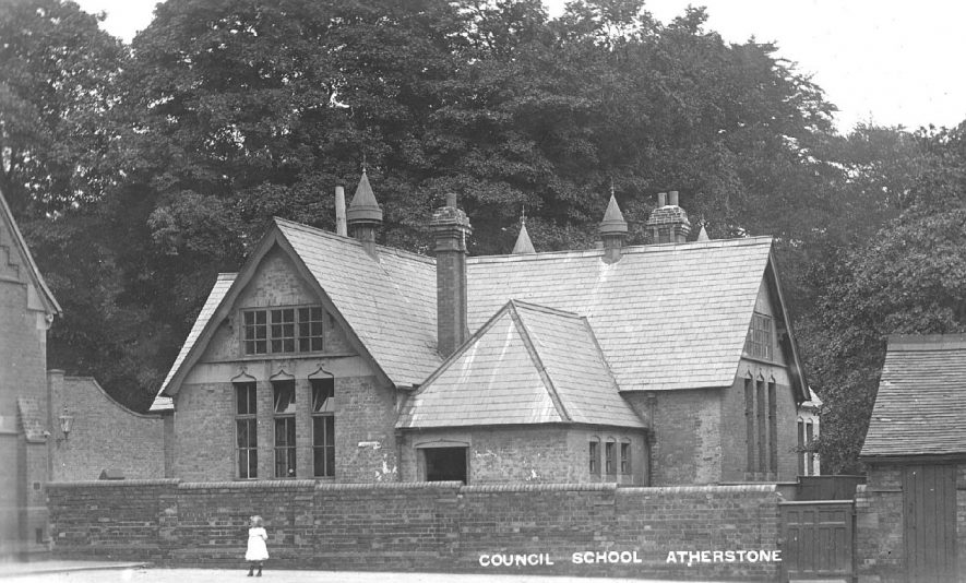 Exterior of  Atherstone Council School.  1900s |  IMAGE LOCATION: (Warwickshire County Record Office)