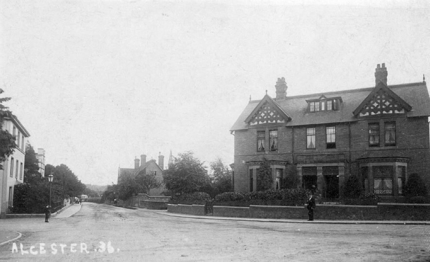 Houses in Priory Road, Alcester.  1900s |  IMAGE LOCATION: (Warwickshire County Record Office)
