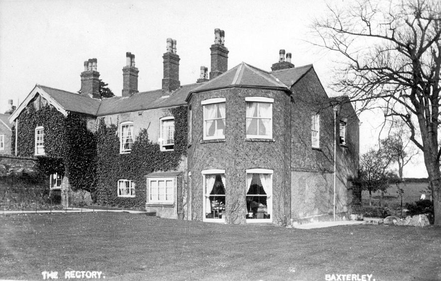 The Rectory, Baxterley.  1900s |  IMAGE LOCATION: (Warwickshire County Record Office)