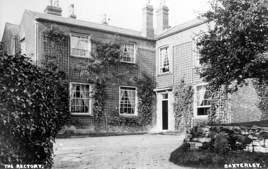 Front view of Baxterley rectory.  1900s |  IMAGE LOCATION: (Warwickshire County Record Office)