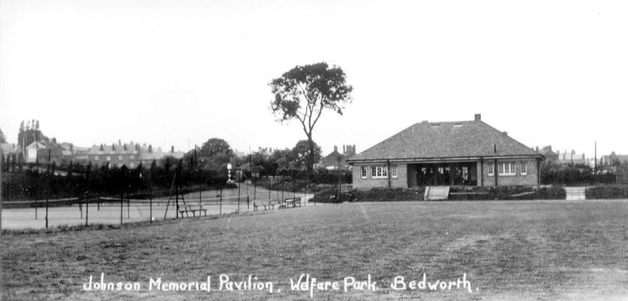 Johnson Memorial Pavilion, Miners' Welfare Park, Bedworth.  1930s |  IMAGE LOCATION: (Warwickshire County Record Office)