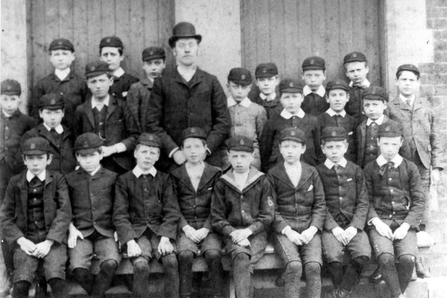 Class photograph from King Henry VII School, 2nd year.  1910s |  IMAGE LOCATION: (Warwickshire County Record Office)
