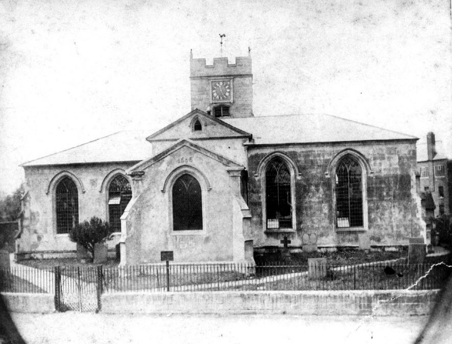 The old church at Bedworth, built in 1606. |  IMAGE LOCATION: (Warwickshire County Record Office)