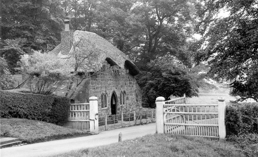 Lodge to Merevale Hall, Atherstone.  1950s |  IMAGE LOCATION: (Warwickshire County Record Office)