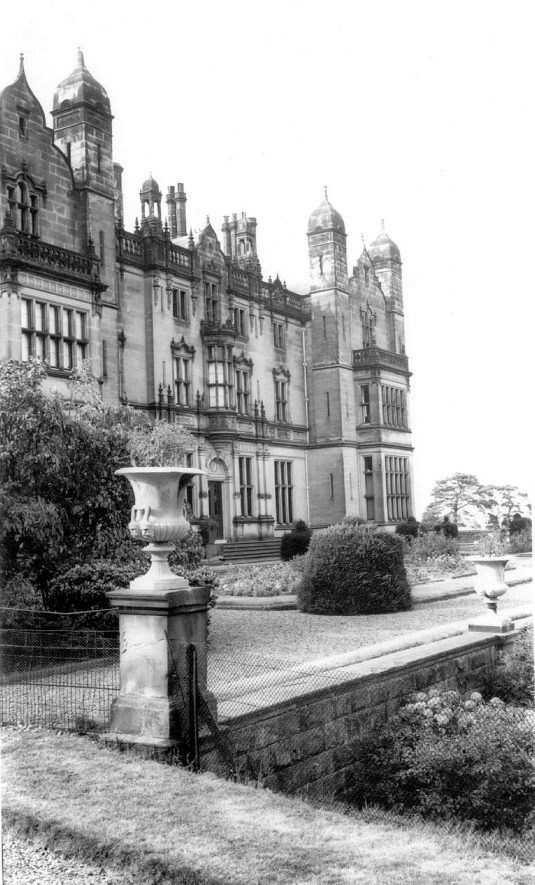 Merevale Hall and gardens, Atherstone.  1960s    IMAGE LOCATION: (Warwickshire County Record Office)