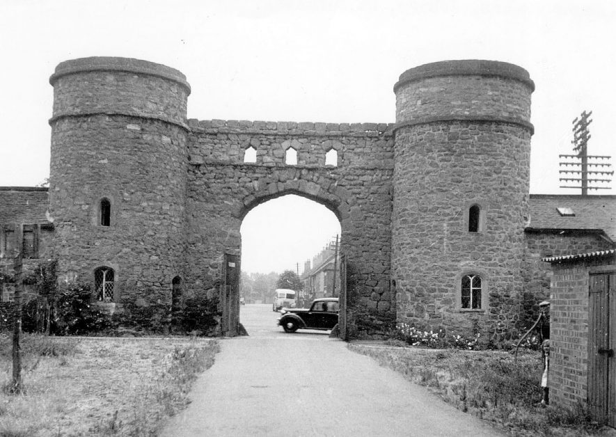 The round towers at Arbury.  1950s |  IMAGE LOCATION: (Warwickshire County Record Office)