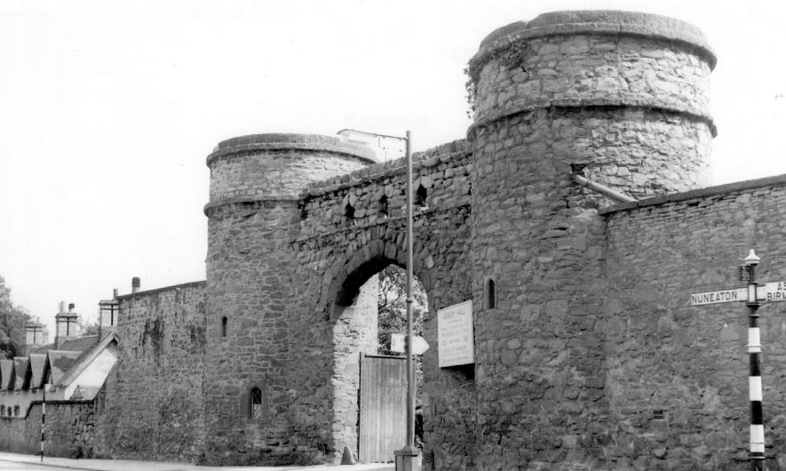 Round Towers, Arbury Hall.  1960s |  IMAGE LOCATION: (Warwickshire County Record Office)