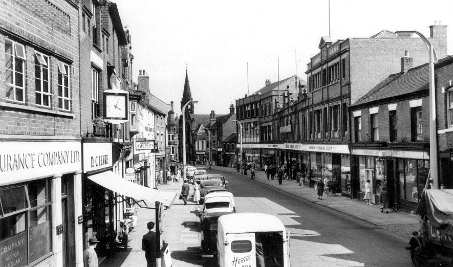 Abbey Street, Nuneaton.  1960s    IMAGE LOCATION: (Warwickshire County Record Office)