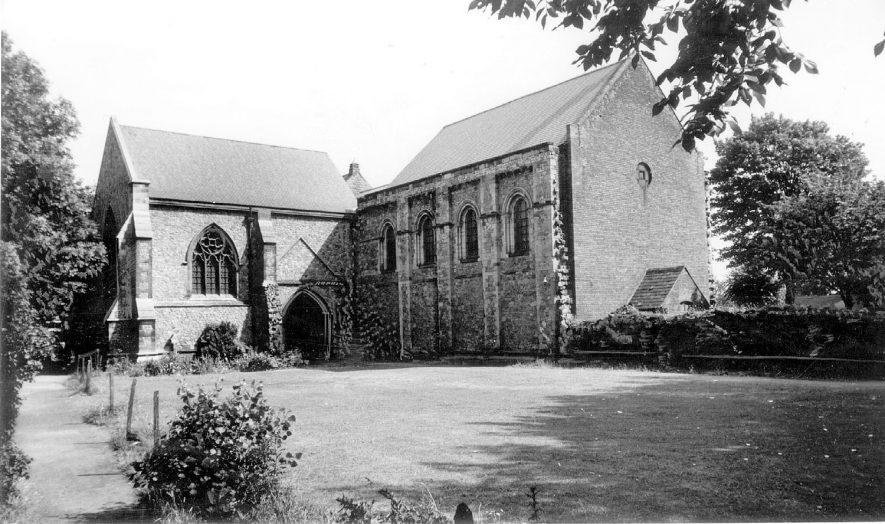 St Mary's Abbey Church, Nuneaton.  1960s |  IMAGE LOCATION: (Warwickshire County Record Office)