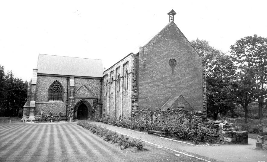 St Mary's Abbey church at Nuneaton.  1960s |  IMAGE LOCATION: (Warwickshire County Record Office)