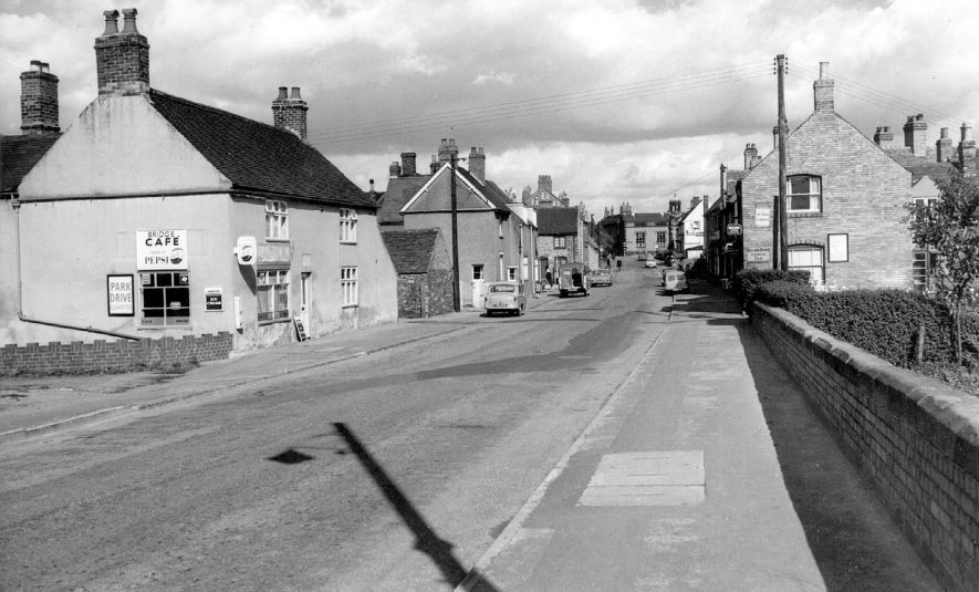 View of Bridge Street, Polesworth.  1960s |  IMAGE LOCATION: (Warwickshire County Record Office)