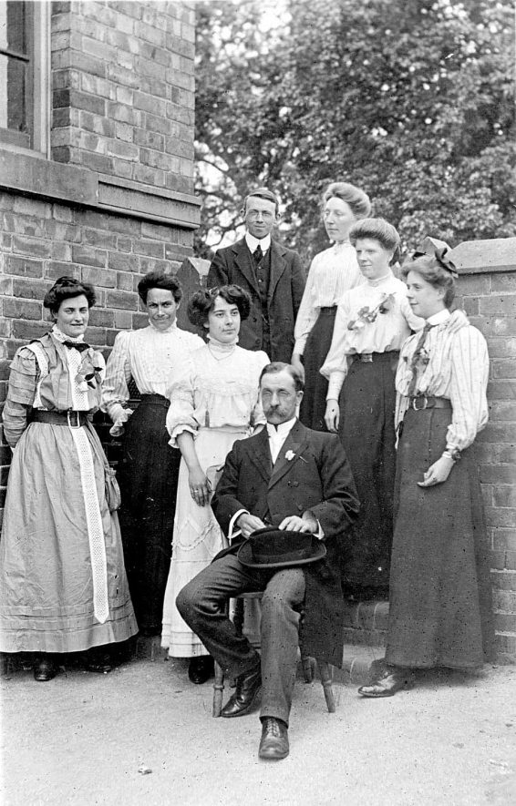 School staff group at Atherstone School.  C1905 |  IMAGE LOCATION: (Warwickshire County Record Office)