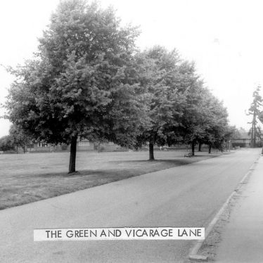 Water Orton.  Green and Vicarage Lane