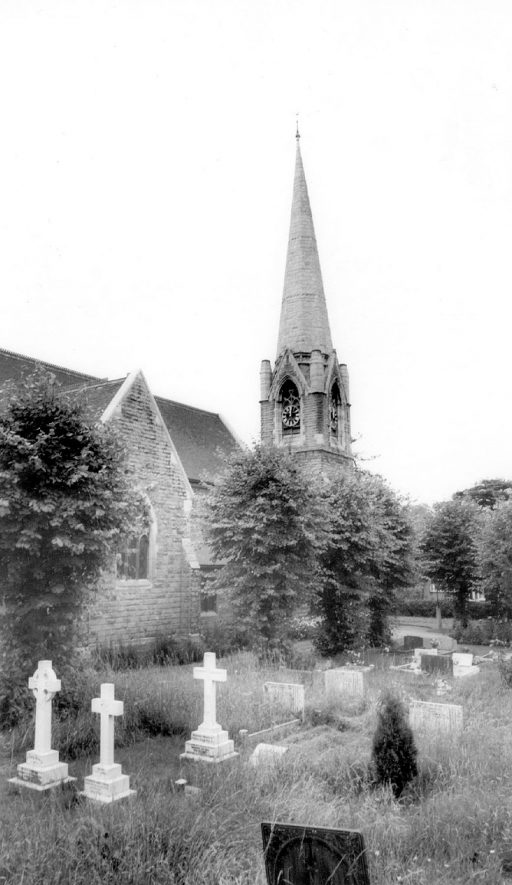 View of Water Orton church & churchyard.  1960s |  IMAGE LOCATION: (Warwickshire County Record Office)