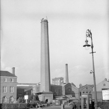 Nuneaton.  Demolition of chimney