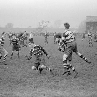 Nuneaton.  Nuneaton v. Coventry, rugby match