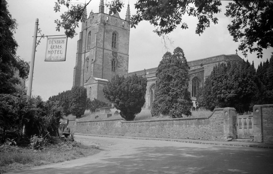 The Church at Monks Kirby.  1951 |  IMAGE LOCATION: (Warwickshire County Record Office)