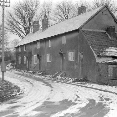 Astley.  Post Office and cottages under snow