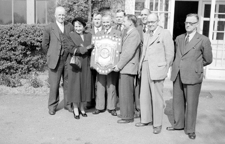 Warwickshire Miners First aid competition held at Lindley Lodge.  Winners,