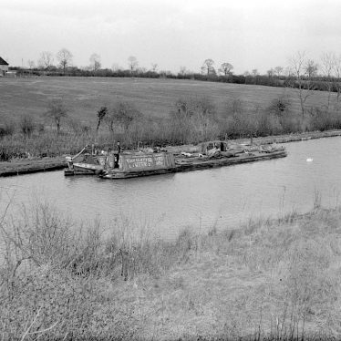 Long Itchington.  Grand Union Canal, showing barges