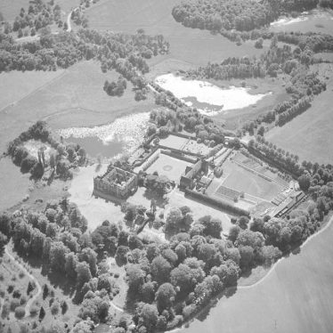 Arbury.  Aerial view of Arbury Hall
