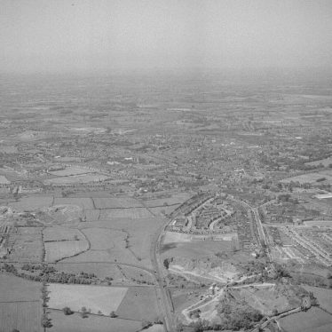 Nuneaton.  Aerial view over Hill Top