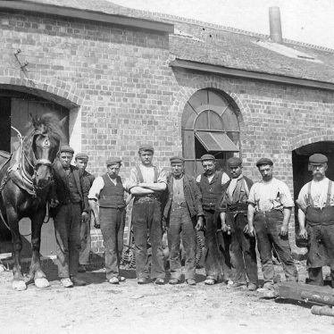 Nuneaton.  Workers at Stanley's Pit, Nuneaton Colliery
