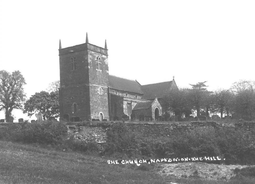 Napton on the Hill church.  1900s    IMAGE LOCATION: (Warwickshire County Record Office)