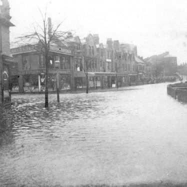 Nuneaton.  Attleborough Road during floods
