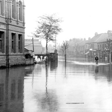 Nuneaton.  Coventry Street during floods