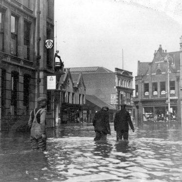 Nuneaton.  Newdegate Square during floods