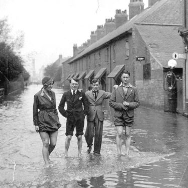 Nuneaton.  Dugdale Street, during floods
