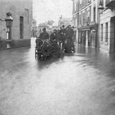 Nuneaton.  Bridge Street, during floods