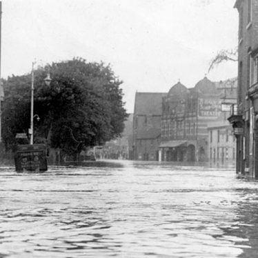 Nuneaton.  Bond Street, during floods