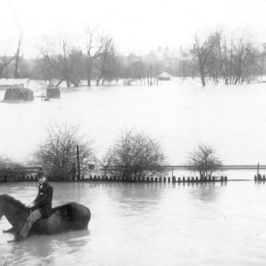Nuneaton.  Riversley Park, during floods