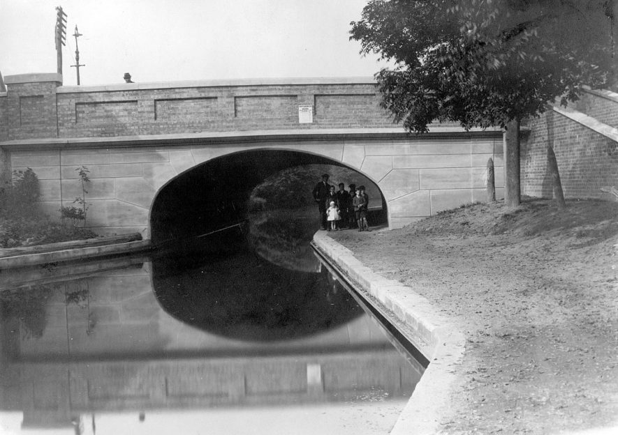 Canal bridge on the Coventry Road, Nuneaton, probably built in 1920s |  IMAGE LOCATION: (Nuneaton Library)