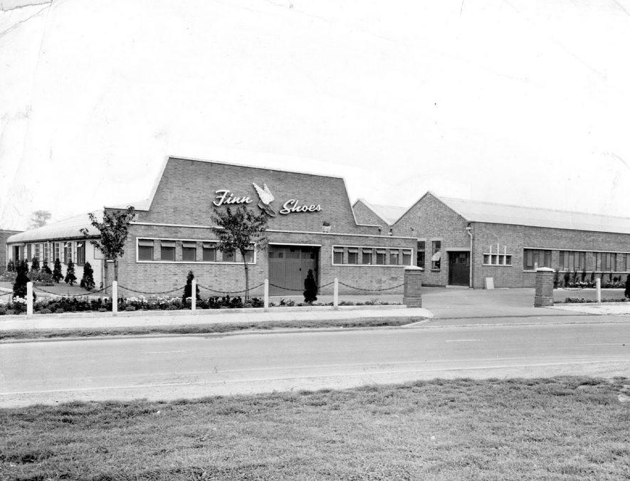 Factory of Finn Shoes Ltd.  Weddington Road, Nuneaton.  1960s    IMAGE LOCATION: (Nuneaton Library)