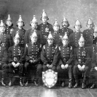 Nuneaton.  Fire Brigade group photograph