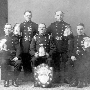 Nuneaton.  Group of firemen