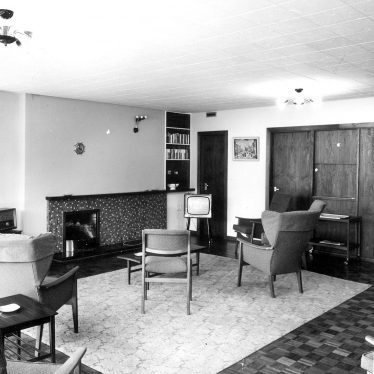 Nuneaton.  Hall End old peoples' home, common room