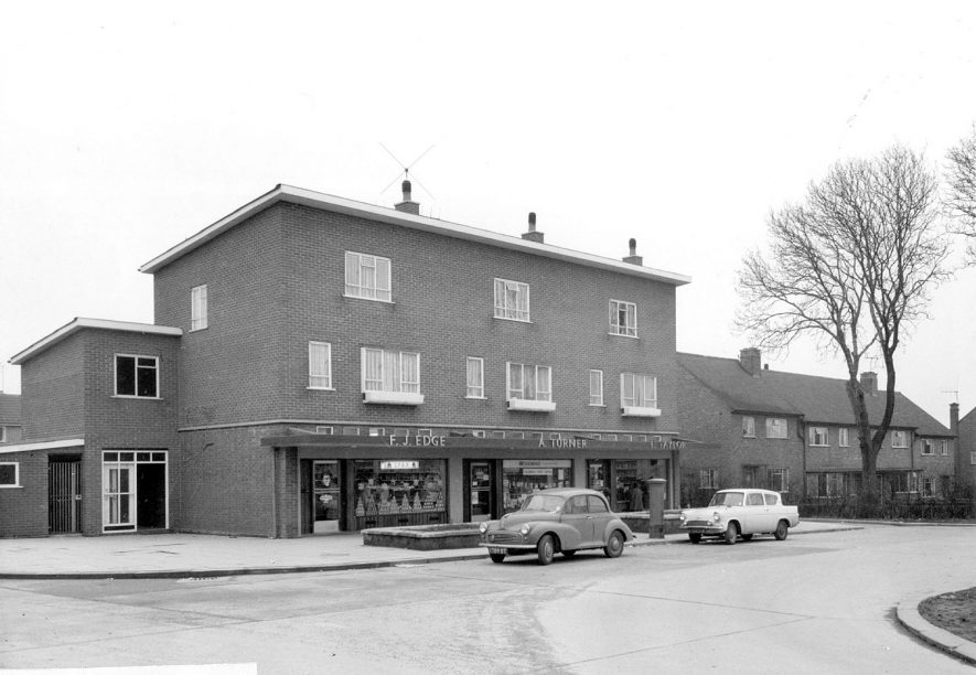 Hill Top Housing Estate, Nuneaton. 1950s[This is actually Caldwell Estate which is across the canal from Hill Top. The three shops are/were oppposite