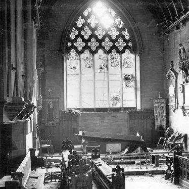 Nuneaton.  St  Nicolas church bomb damage