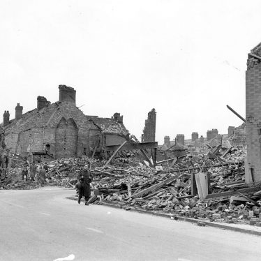 Nuneaton.  Bomb damage