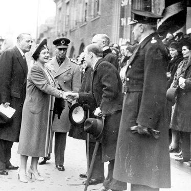 Nuneaton.  George VI & Queen Elizabeth visit