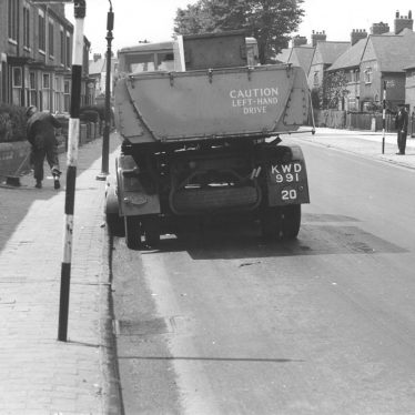 Nuneaton.  Road cleaning vehicle