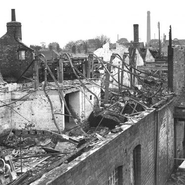 Nuneaton.  Midland Daily Tribune building, bomb damage