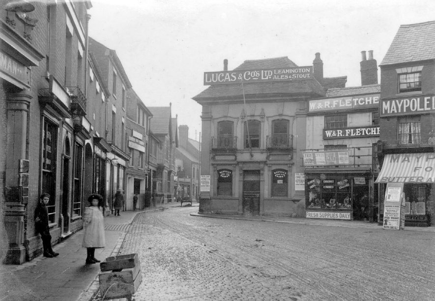 View of Market Place with the Crystal Palace Hotel.  1900s |  IMAGE LOCATION: (Nuneaton Library)