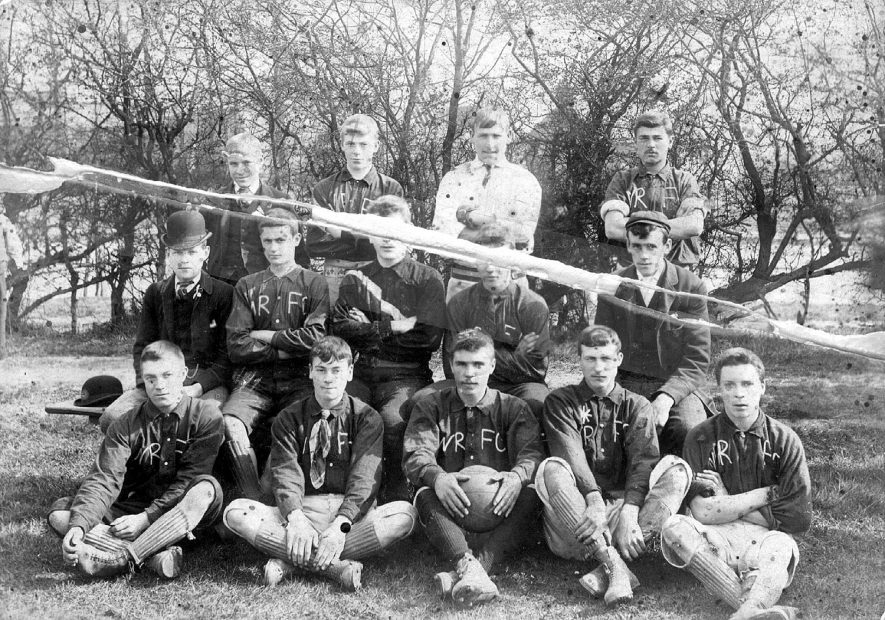 The Old Nuneaton Rovers Football Club in 1894.  Mr D. Payne is on the back row, extreme right. |  IMAGE LOCATION: (Nuneaton Library) PEOPLE IN PHOTO: Payne, D, Payne as a surname